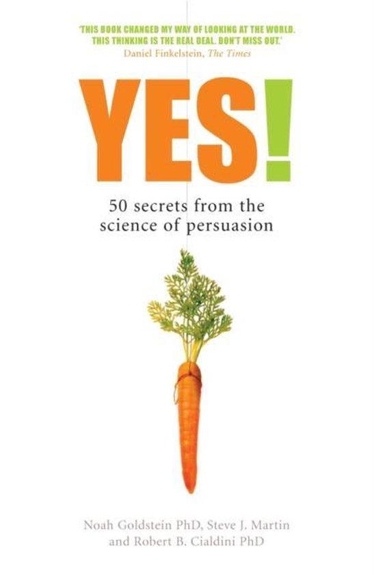 Boek cover Yes! van Noah Goldstein (Hardcover)