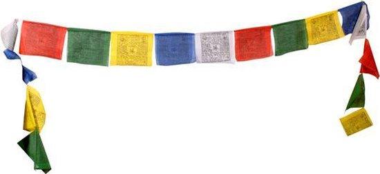 bol.com | Gebedsvlaggen koord Tibetaans met 10 vlaggen - 9x9 - Katoen (10  stuks)