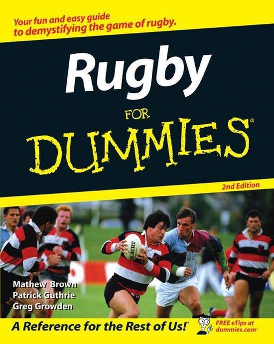 Boek cover Rugby For Dummies van Greg Growden (Onbekend)