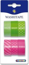 Washi Tape Groen Roze Kleuren |  Decoratie Tape