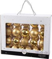 Gouden kerstversiering kerstballen set - 42 delig - kerstballen van kunststof