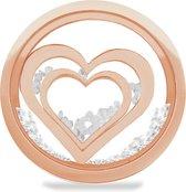 LOCKits 982501862 - Stalen glas munt - harten en kristallen - 25-2 mm - rosékleurig