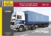 Heller Volvo F12-20 Globe Trotter & twin-axle semi trailer