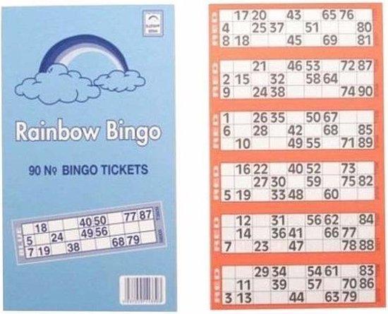 Thumbnail van een extra afbeelding van het spel 10x Bingokaarten 1-90