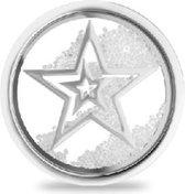 LOCKits 982501857 - Stalen glas munt - sterren en kristallen - 20-2 mm - zilverkleurig