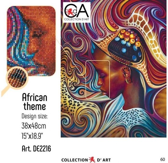 DIAMOND PAINTING CDA AFRICAN THEME 48X38CM