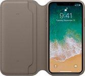 Apple Lederen Folio Case voor iPhone X / XS - Taupe