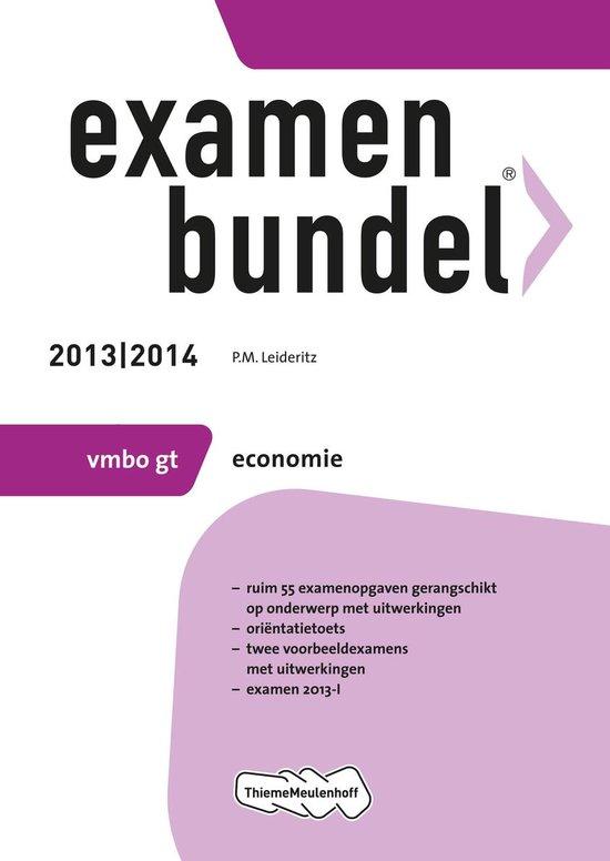 Examenbundel - 2013/2014 VMBO-gt Economie - P.M. Leideritz |
