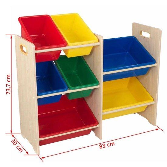KidKraft Speelgoed opbergmeubel 7 bakken beige 83x30x73.7 cm 15470