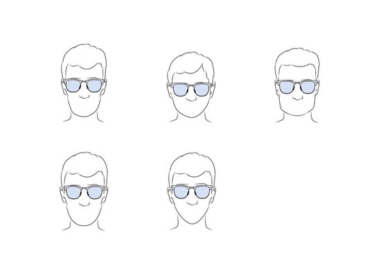 Ocean Sunglasses - SOCOA - Unisex Zonnebril zwart - Ocean Sunglasses