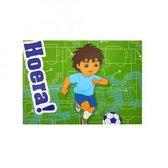 Set van 5 Diego ansichtkaarten met opdruk ; Hoera !
