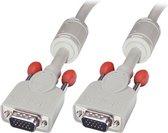 Lindy 36341 VGA kabel 1 m VGA (D-Sub) Grijs