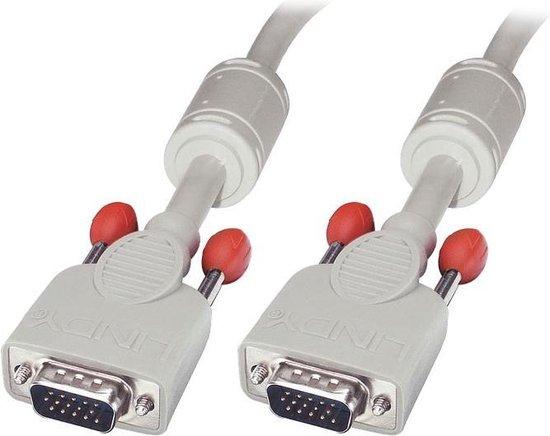 Lindy VGA Kabel M/M cool grey 1m HD15 M/M DDC-geschikt