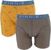 Vinnie-G Boys kinder boxershorts Wakeboard Grey - Print 2-Pack-140/146