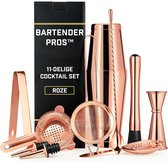 Cocktail Set Bartender Pros™ - Cocktail Shaker - 11-Delige Cocktailset - Boston shaker - Cocktailshaker - Rose - RVS