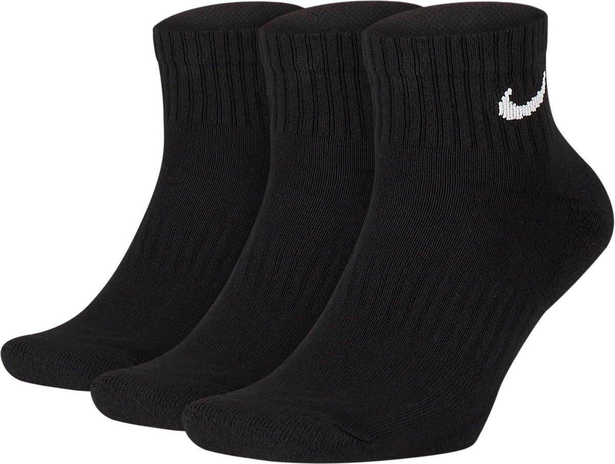 Nike Everyday Cushion Ankle Sokken Sokken (regular) - Maat 38-42 - Unisex - zwart/wit