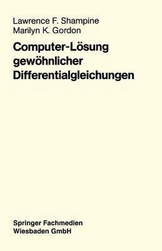 Computer-Loesung Gewoehnlicher Differentialgleichungen
