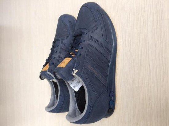 bol.com | Adidas LA Trainer blauw leer maat 42 2/3