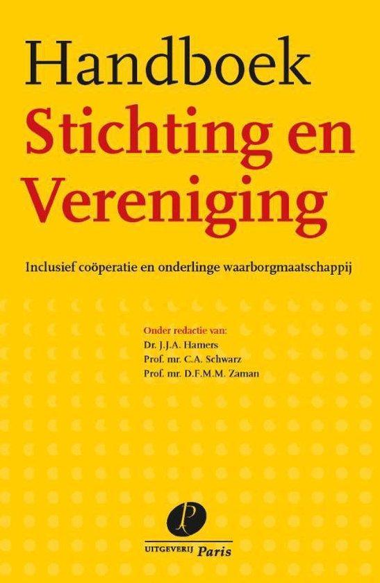 Boek cover Handboek stichting en vereniging van  (Paperback)