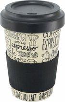 Point-Virgule Coffee Reisbeker - Bamboevezel - deksel en anti-slipband - 500 ml