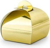 """""""Boxes, goud, 6x6x5.5cm (1 zakje met 10 stuks)"""""""