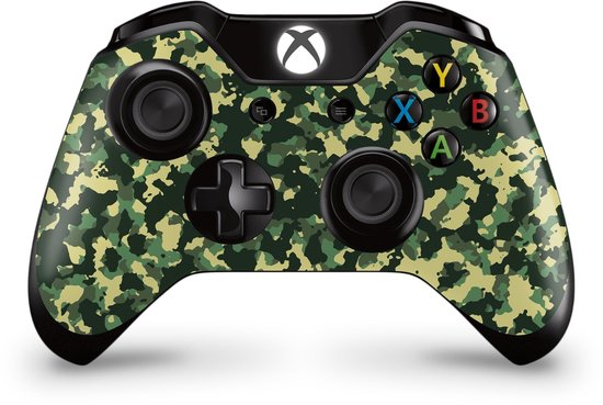 Xbox One Controller Skin Camo Groen Sticker