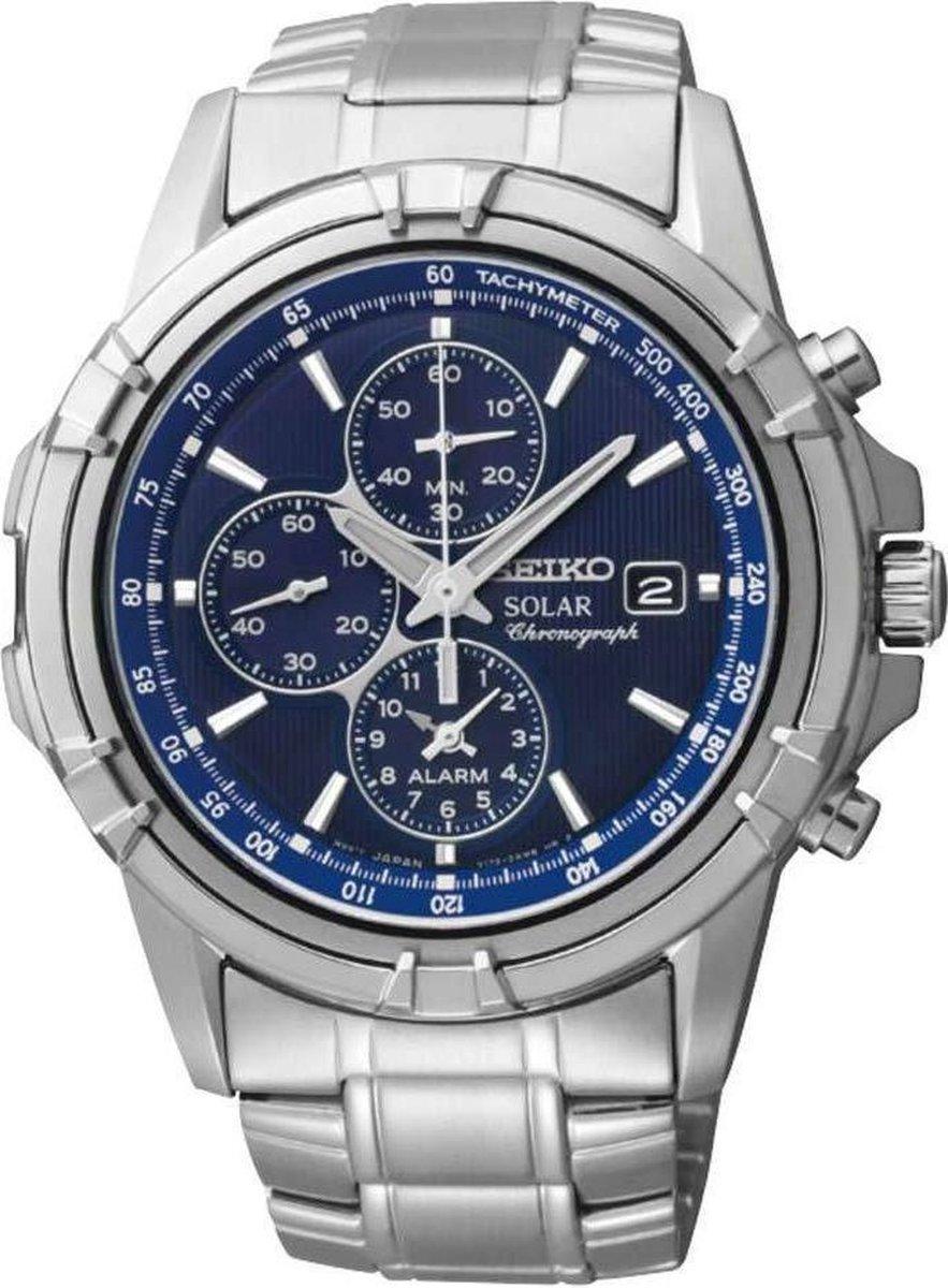 Seiko SSC141P1 horloge heren zilver edelstaal