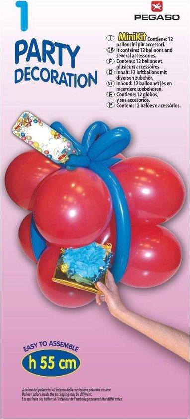Pegaso Ballonnen-set Cadeau 55 Cm Rood/blauw