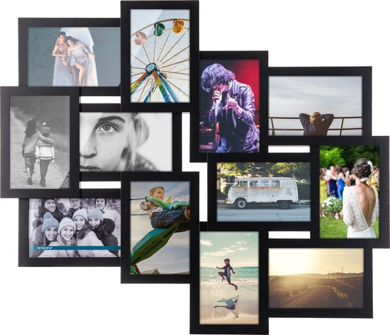 Multi 12 - Fotolijst - Collagelijst - Zwart