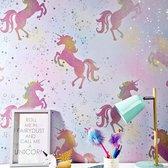 Unicorn Eenhoorn Behang 50cm breed 10m Lang