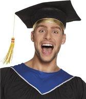 Luxe afstudeer hoed geslaagd zwart voor volwassenen - afstudeerhoedje