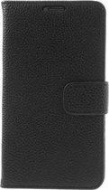 Shop4 - Samsung Galaxy S5 Neo Hoesje - Wallet Case Lychee Zwart