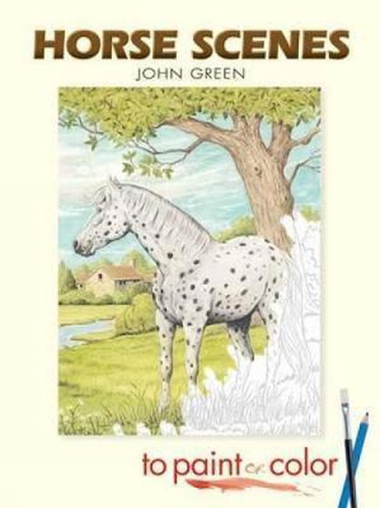 Horse Scenes to Paint or Color