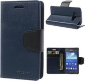 Goospery Sonata Leather hoesje Samsung Galaxy Ace 4 G357 Blauw