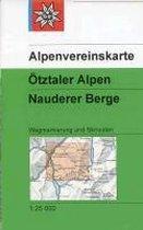 DAV Alpenvereinskarte 30/4 Ötztaler Alpen - Nauderer Berge 1 : 25 000 Wegmarkierungen und Skirouten