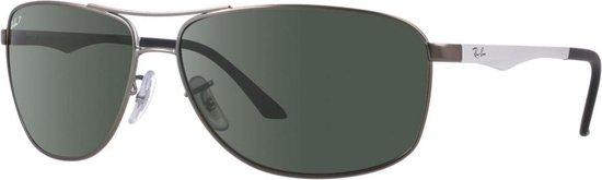 Ray-Ban RB3506 029/9A - zonnebril - Staalgrijs-Zilver / Groen Klassiek G-15 - Gepolariseerd - 64mm
