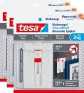 Tesa 77777 Smart Mounting verstelbare Spijker gevoelige oppervlakken 2 kg 3 stuks