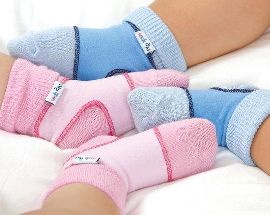 Sock Ons - Babysokjes 0-6 maanden - Blauw