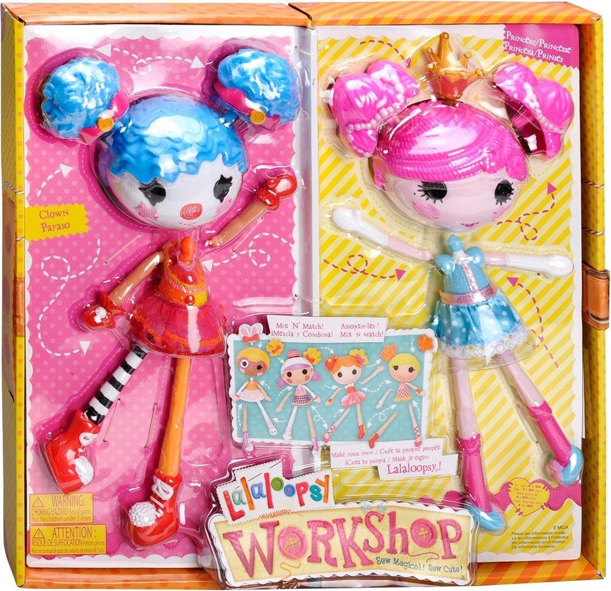 Lalaloopsy Workshop Dubbelset Princess&clown - Pop