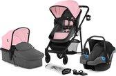 Kinderkraft Juli 3 in 1 Kinderwagen - Inclusief Autostoel - Pink