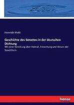 Geschichte Des Sonettes in Der Deutschen Dichtung
