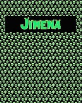 120 Page Handwriting Practice Book with Green Alien Cover Jimena