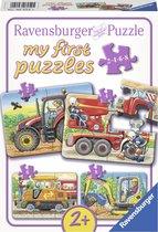 Ravensburger Op het werk - My First puzzels - 2+4+6+8 stukjes - kinderpuzzel