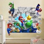 Mario 3D Muursticker Kinderkamer Woondecoratie