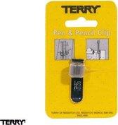 Terry Clip voor 1 pen of potlood zilver