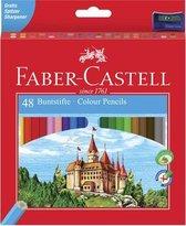Kleurpotlood Faber-Castell Castle zeskantig karton etui met 48 stuks