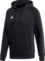adidas Core 18 Hooded Sweater  Sporttrui casual - Maat M  - Mannen - zwart