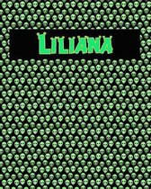 120 Page Handwriting Practice Book with Green Alien Cover Liliana