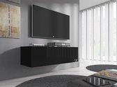 Meubella - TV-Meubel Flame - Zwart - 100 cm