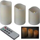 Home@Styling - Tafellamp - LED kaarsen met afstandsbediening - Set 3 stuks